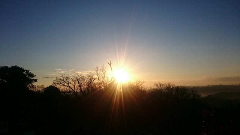金比羅山からの初日の出