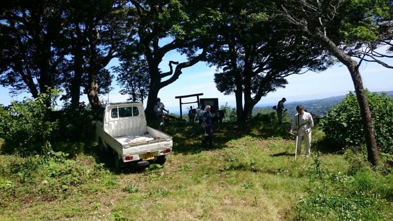 金比羅山掃除