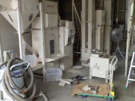 精米機の掃除、整備
